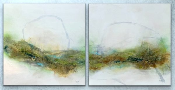 Caught up in the country  -  Diptych / set of 2