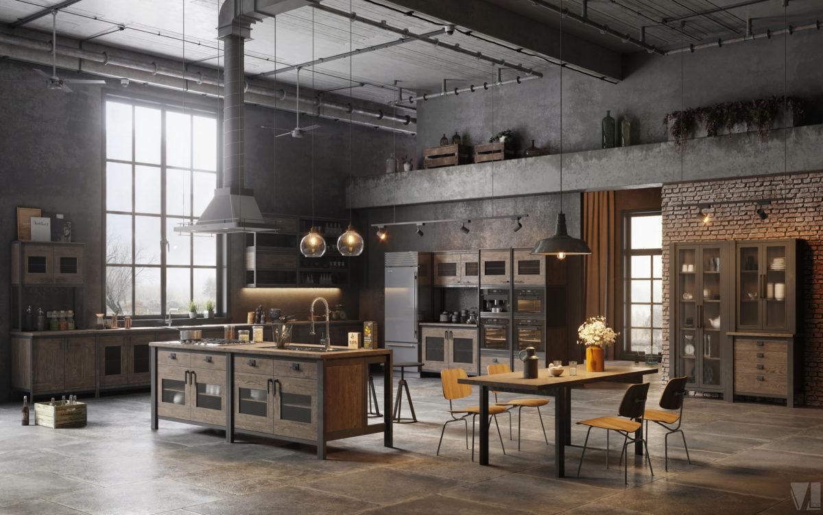 Various Loft Kitchen Designs Skillmill